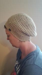 Gehäkelte Mütze Ballonmütze Beanie für Frauen Winter in beige