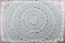 ♥ Häkelteppich MINOUX 115 cm aus reiner BW ♥