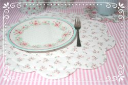 ~•♡•~Tischset weiß 36 cm ~•♡•~