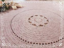 ♥ Teppich Chloe - 180 cm - 100% Baumwolle - Farbwahl ♥