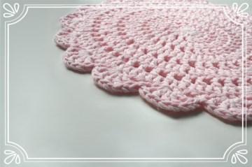 Tischset / Platzset FLORINE in rosé aus 100% Baumwolle