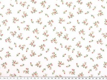 Mathildas Welt - Baumwoll-Stoff -  Mini Röschen in weiß