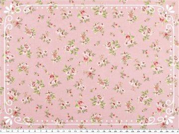 Bezaubernder Mathildas Welt - Baumwoll-Stoff -  Röschen in rosa