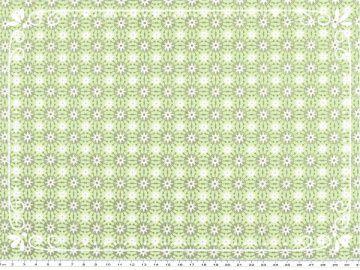 Wunderschöner Mathildas Welt - Baumwoll-Stoff - Blumen in hellgrün