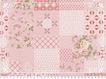 Wunderschöner Mathildas Welt - Baumwoll-Stoff - Patchwork Roses in rosa (wird bestellt)
