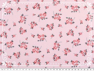 Süßer Baumwoll-Stoff - Lil Rose in zartem rosa