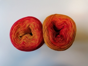 McLana Bobbel Rot-Ocker Verlaufsgarn - Handarbeit kaufen