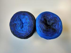 McLana Bobbel Schwarz-Blau Verlaufsgarn