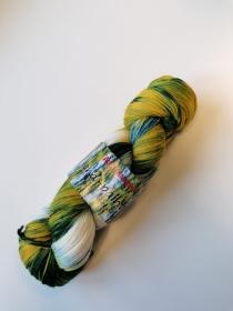 Austermann hand-painted Gelb-Grün - Handarbeit kaufen