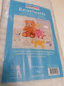 Bastelwatte Glorex; 100% Polyester; waschbar/hygienisch; 1kg
