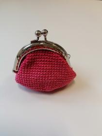 Geldbörse mit Bügel; altrosa, 100% Baumwolle Eisenbügel - Handarbeit kaufen