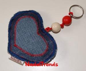 Herzanhänger als Schlüsselanhänger oder Taschenbaumler - Handarbeit kaufen