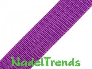 1m Gurtband 15 mm breit violett - Handarbeit kaufen
