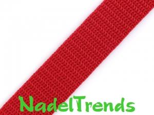 1 m Gurtband 15 mm breit in rot - Handarbeit kaufen