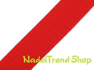 1 m Gurtband 20 mm breit in rot - Handarbeit kaufen