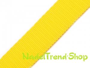 1m Gurtband 20 mm breit gelb - Handarbeit kaufen