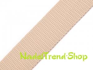 1 m Gurtband 20 mm breit in ecru - Handarbeit kaufen