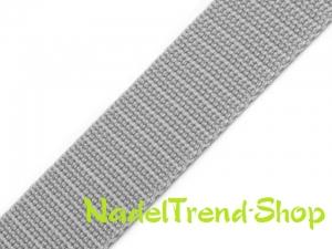 1 m Gurtband 20 mm breit in hellgrau