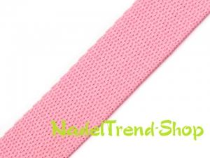 1 m Gurtband 20 mm breit in zartrosa - Handarbeit kaufen