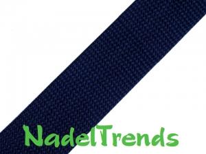 1 m Gurtband 20 mm breit in dunkelblau - Handarbeit kaufen