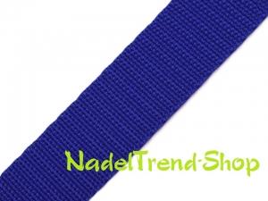 1 m Gurtband 20 mm breit in marine - Handarbeit kaufen