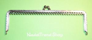 nostalgischer Taschenbügel silberfarben 18 cm breit - Handarbeit kaufen
