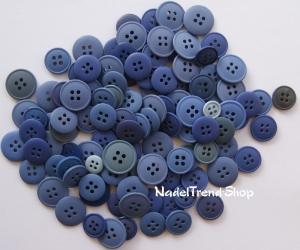 Knopf-Mix verschiedene Blautöne - Handarbeit kaufen