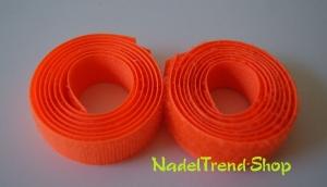 0,50 m Klettband 20 mm breit in neonorange - Handarbeit kaufen
