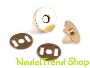 4 Sets Magnetschließen 18 mm gold oder silber oder schwarz - Handarbeit kaufen