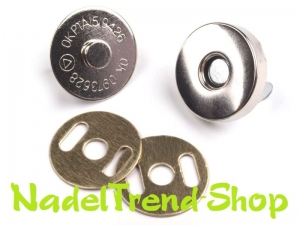 4 Sets Magnetschließen 15 mm in silber - Handarbeit kaufen