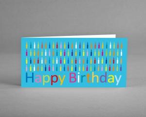 FRÖHLICH: Glückwunschkarte zum Geburtstag