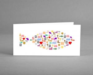 2 Glückwunsch-, Gutschein- oder Einladungskarten zur Konfirmation, Firmung, Kommunion oder Taufe ♡ selbst designt ♡ inkl. Kuverts und Versand und Gratis Karte
