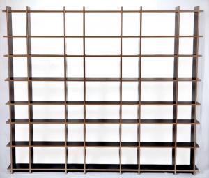 Regal purista fixed aus MDF schwarz beschichtet mit Aluminiumschienen - Handarbeit kaufen
