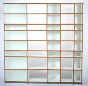 Regal purista move aus MDF, weiß beschichtet, mit satinierten Glasscheiben - Handarbeit kaufen