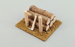 Weihnachtskrippen Zubehör Holzstammstapel - Handarbeit kaufen
