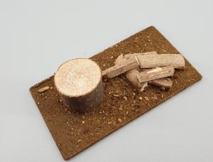 Weihnachtskrippen Zubehör Hackstock mit Holzscheiten - Handarbeit kaufen
