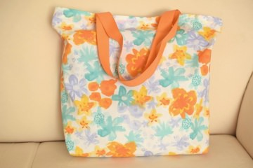 ♥♥ farbenfroher Einkaufsbeutel aus Baumwolle ♥♥