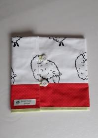 Tasche für Rundstricknadeln mit Schafen in Patchwork - Handarbeit kaufen