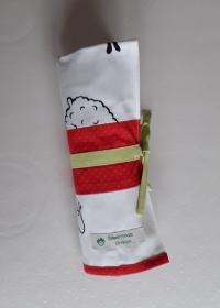 Tasche für Strumpfstricknadeln mit Schafen in Patchwork - Handarbeit kaufen