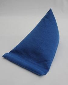 Tablet-Kissen aus festem blauem Baumwollstoff - Handarbeit kaufen