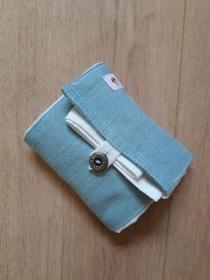 Zusammenfaltbare Einkaufstasche in Jeansoptik - Handarbeit kaufen