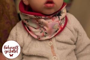 ♡warmer Babyschal, mitwachsend, wunderschöner Stoff, Kinderschal, selbst genäht, pink, Jerseystoff, Winterschal, Einhorn, Mädchen ♥