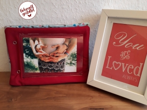 ♡ Fotobuch für Babys, aus Stoff, selbst genäht, sabberfest, dicke Seiten, Geschenk, Babyparty, Fotoalbum ♡