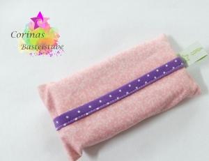 TATÜTA Taschentüchertasche mit Blümchen in rosa / lila - Handarbeit kaufen