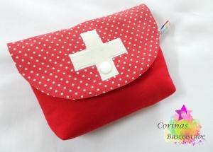 Kosmetiktasche - kleines Täschchen - Mäppchen - Reiseetui - Mehrzwecktäschchen - Universaltäschchen - Kulturtasche   - Handarbeit kaufen