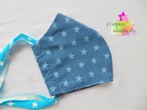 Masken Mund Nasen Bedeckung Alltagsmaske Gesichtsbedeckung  Sterne - in Gr. S Kinder - Bänder individuell anpassbar    - Handarbeit kaufen