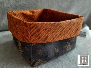Utensilio Stoffkorb Stoffkörbchen Aufbewahrung Korb  schwarz  braun  - Handarbeit kaufen