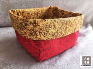 Utensilio Stoffkorb Stoffkörbchen Aufbewahrung Korb  rot braun - Handarbeit kaufen