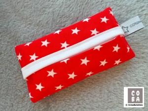 TATÜTA Taschentüchertasche rot mit weißen Sternen - mit Liebe genäht - Handarbeit kaufen