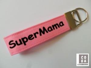 Schlüsselband Schlüssband SuperMama #mitLiebegenäht